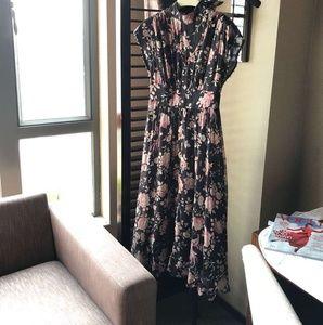 New 2019 Kate Spade black floral chiffon dress